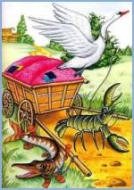Лебідь, щука і рак (українська народна казка)