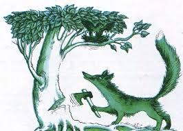 Лисиця і горобчиха