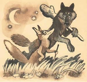 Вовк і лисиця