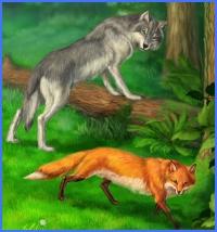 Вовк та лиса (Брати Ґрімм)
